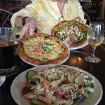 Crab Quesadilla and Lokelani Pizza