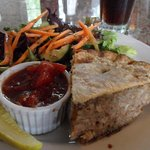 tourtiere lunch plate, good & filling