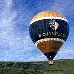 Hot air ballon over Champagne