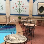 A stylish hotel with beautiful pool and garden