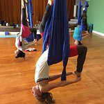 Aerial Yoga gives you a different perspective