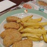 Nuggets frites pour les enfants