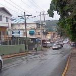 Ocho Rios main road from ferry terminal to hotel, (a dump)