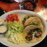Tacos with spicy pork.