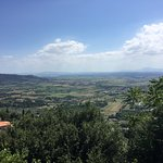 The view from Cortona.