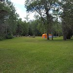 Group camping area was ideal for family reunion
