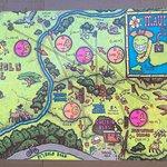 Map of Piiholo Zipline Runs