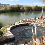 Hot spring tub on the Rio Grande.