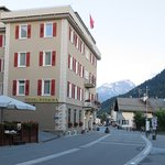 Hotel looking south from main street in Pontresina