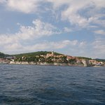 Sailing around the old city of Korcula