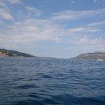 Sailing around Korcula