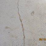 cracks in concrete on stairwells