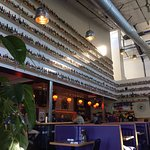 Inside Caldera Brewery & Restaurant - How many bottles of beer on the wall?