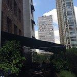Vista externa do Restaurante do Hotel