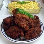 fried chicken, mac & cheese