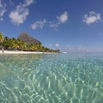 Shot from the Snorkeling boat to Le Morne Brabant