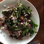cranberry blue cheese spinach salad