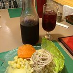 Ceviche paired with Sangria