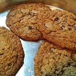 Legendary oatmeal walnut chocolate chip cookies.