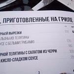 Описание блюда в меню