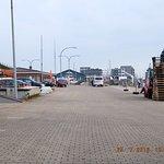 Hörnumer Hafen mit Blick auf das Budersand
