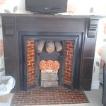 Lovely fireplace in our bedroom