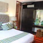 Villa two's master suite had lovely decor