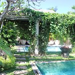 As we had 3 x villas opened via the gardens, we had 3 x pools