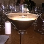 My espresso martini to finish my meal off in the bar.