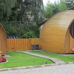Glamping Pods in the gardens