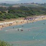 vue sur la plage depuis le chemin revenant de Sélinunte