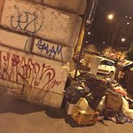 Begging migrants, graffiti, rotting rubbish, people urinating and drug use in the area