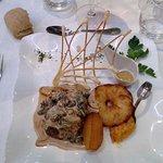 plat principal menu 48€: filet de boeuf aux morilles