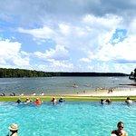 Infinity pool that overlooks the lake!