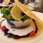 Sardines fraîches (légèrement) marinées (entrée)