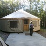 Eagle River Nature Center yurt
