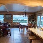 View from kitchen into the breakfast dining room.