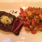 Steak frites without the steak and with ratatouille