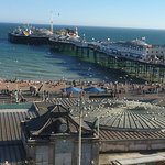 View to Brighton Pier. Aquarium right down in front