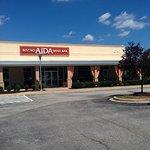Plenty of parking, easy to find Aida Bistro and Wine Bar