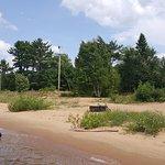 Rustic beachfront sites