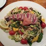 ahi tuna salad at Jaker's in Twin Falls, ID