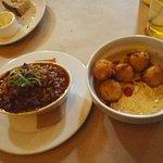 Jambalaya & Halibut Fritters