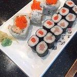 Spicy Scallop Roll, Sockeye Salmon Roll, Tuna Roll