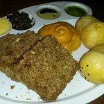 Bread, tapenade and oils
