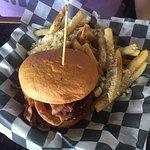 Baconlicious Burger & Parmesan Fries