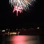 Fireworks taken from the sea side deck at All Seasons B&B for the Fun Folk and Fish Festival.