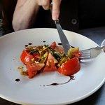 Heirloom tomatoe salad