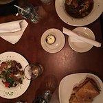 Delicious homenmade key lime pie. Veggie sandwich eggplant parmiggiana. Rost pot and bourbon tip