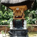 One of the family temples with beautiful hand carving done by Wayan himself.